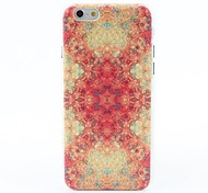 Flowers Style Litchi Grain Hard Back Case for iPhone 6