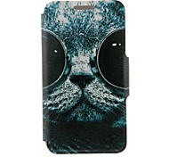 For Huawei Case Pattern Case Full Body Case Cat Hard PU Leather Huawei Huawei P7