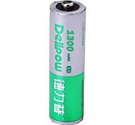 1.2v 1300mah Delipow aa batería recargable de níquel-cadmio