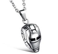 Fashion (Iron Man Helmet) Titanium Steel Necklaces (Silver) (1 Pc)