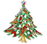 Fashion Colorful Christmas Tree Shape Brooch