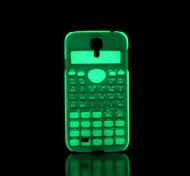 Calculator Pattern Glow in the Dark Hard Case for Samsung Galaxy S4 I9500