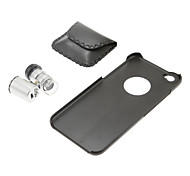 Lente do microscópio 60x com pc preto de volta caso para iphone 6