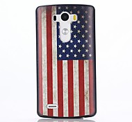 The Retro National Flag of USA Pattern PC Hard Back Cover Case with Anti-dust Plug and Stand for LG G3