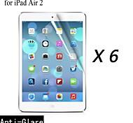 [6-pack] Protector de pantalla anti-reflejo prima de alta calidad para el ipad 2 del aire