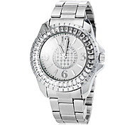 Women's Diamante Case Silver Steel Band Quartz Fashion Watch (Assorted Colors) Cool Watches Unique Watches