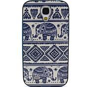 2-in-1 kleiner Elefant Muster TPU rückseitige Abdeckung mit pc autostoßfest weiche Tasche für Samsung S4 i9500
