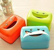 Smile Face Plastic Tissue box(Random Color)