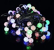 5W 50 LED-perlas rgb luz de la decoración de Navidad cadena - transparente + negro (6.9m / 220v enchufe / eu)