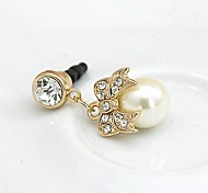 Pearl and Bowknot 3.5mm Anti-dust Plug for iPhone 6 and Others