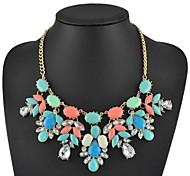 moda colorida jóia declaração colar