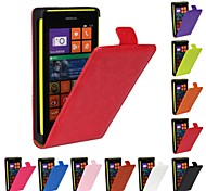 Flip-Open Horse Grain PU Leather Full Body Case for Nokia Lumia 520 (Assorted Colors)