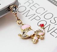 1Pcs Mini Poodle 3.5mm Anti-dust Plug for iPhone 6 and Others(Random Colors)