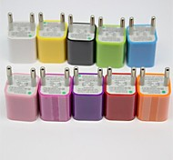 Europe Standard Universal Square Shape Wall Charger for Samsung/iPhone and Others(Assorted Colors)