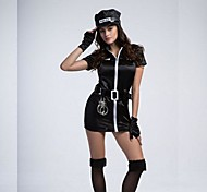 Cosplay Costumes / Party Costume / Masquerade Police / Cosplay Festival/Holiday Halloween Costumes Black PatchworkDress / Gloves / Belt /