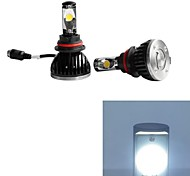 2pcs 30W 5000K 9004 Bright LED Car Headlights