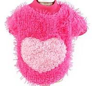 Cat / Dog Sweater Blue / Yellow / Rose Winter Hearts Fashion / Keep Warm