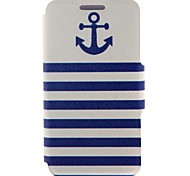 Kinston Anchor Naval Stripe Pattern PU Leather Full Body Case with Stand for Nokia X