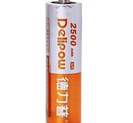 1.2v 2500mah Delipow aa batería recargable de níquel-cadmio