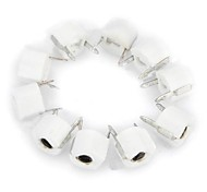 10Pf 6mm Plastic Variable Capacitors - White (10 PCS)