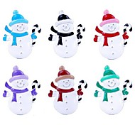 Fashion Colorful Christmas Snowman Shape Brooch(Assorted Color)