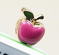 1Pcs Fashion Enamel Apple 3.5mm Anti-dust Plug for iPhone 6 and Others(Random Colors)