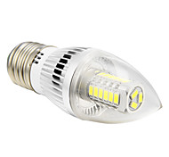 E26/E27 5 W 27 SMD 5730 350 LM Cool White C Candle Bulbs AC 100-240 V