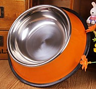 High Quality Stainless Steel Bowl for Pet Dogs(Size: 18x18x5.5cm Random Color)