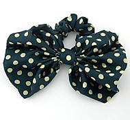 Fashion Dot Bow Hair Ties