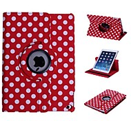 Polka Dot 360 Degree Rotating Full Body Stand Leather Case for iPad Air 2  (Assorted Colors)