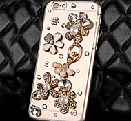 Transparent Dance Girl Rhinestone PC Hard Case for iPhone 6