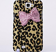 Bowknot Leopard Back Cover Case for Samsung Galaxy Note 2 N7100