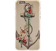 Retro-Anker und Blumen Design Hard Case für iPhone 6 Plus