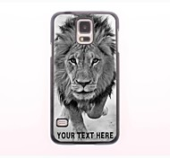 Personalized Phone Case - Wild Lions Design Metal Case for Samsung Galaxy S5 I9600