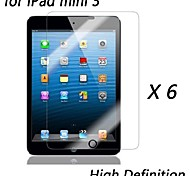 [6-pack] High-Definition-Clear Displayschutzfolien für das iPad mini 3