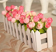 Branch Polyester Roses Tabletop Flower Artificial Flowers 30 x 10 x 10(11.8'' x 3.94'' x 3.94'')
