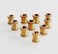 M3  5X5 Nuts/ Insert round Nuts/Thumb Brass Brass Knurl Nuts M3*5mm(L)-5mm(OD) Metric Threaded (100pcs)