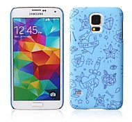 grote blauwe hart patroon met rubber design case harde case voor Samsung Galaxy S5