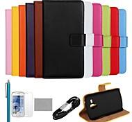 Para Soporte de Coche / Cartera / con Soporte / Flip Funda Cuerpo Entero Funda Un Color Dura Cuero Sintético Samsung Trend Duos