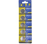 XingQiu CR2032 3V High Capacity Button  Batteries (5PCS)