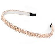Korean Fashion Handmade Crystal Beaded Braid Headband