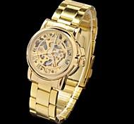 Hohl Stil Stahl analoge automatische mechanische Armbanduhr ar Frauen