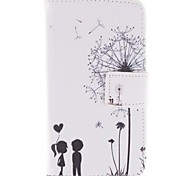 Dandelion and the Design of Lovers PU Leather Full Body Case with Stand and Card Slot for LG L90 D405