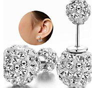 Shambhala Rhinestone Double Ball Earrings