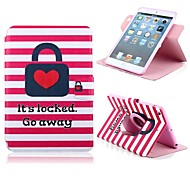 Love Lock Design PU Full Body Case with Stand for iPad mini 1/2/3