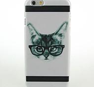 cas dur de modèle de chaton lunettes pour iPhone 6