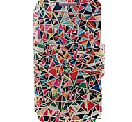 For Nokia Case Card Holder / Flip Case Full Body Case Geometric Pattern Hard PU Leather Nokia Nokia Lumia 520