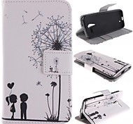 Dandelion and the Design of Lovers PU Leather Case Cover with Stand and Card Slot for Motorola MOTO X