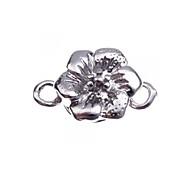 10pcs Silberton Legierung Blume magnetische Halskette Abzug Haken Stecker