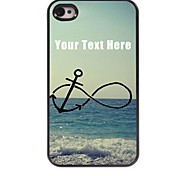 Personalized Phone Case - Anchor and Beach Design Metal Case for iPhone 4/4S